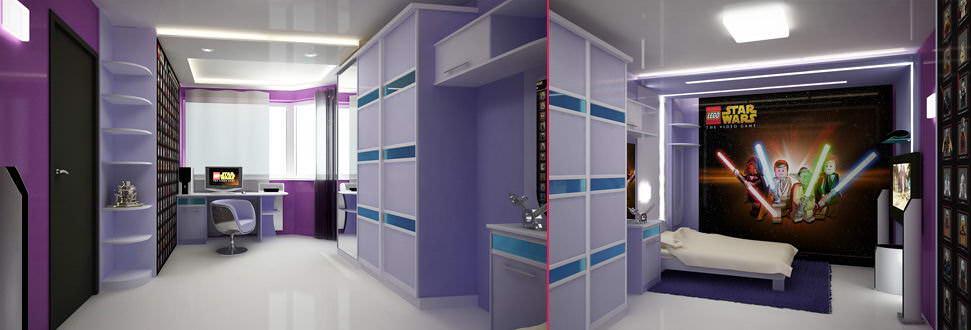 Детской комнаты для мальчика в стиле